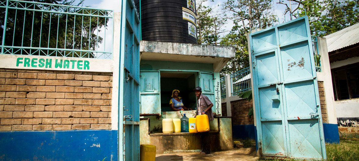 Fresh water for the residents of the Majengo slums on Kenya's coast has come on tap as part of a UN-Habitat rehabilitation